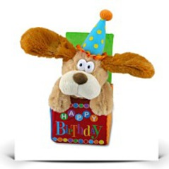 12 Flappy Birthday Animated Plush Puppy