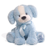 gund puppy blue white plush size
