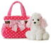 aurora plush fancy pals carrier pink