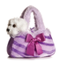 aurora plush purple pretty fancy purse