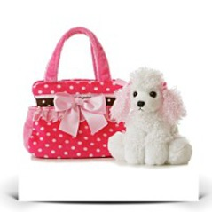On SalePlush Fancy Pals Pet Carrier Fancy Pink