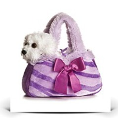 On SalePlush Purple Pretty Pup Fancy Pal Purse