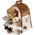 plush house -five stuffed animal dogs