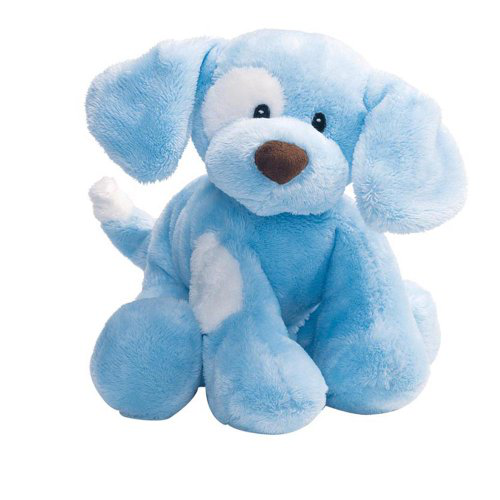 Gund Baby Spunky Plush Puppy Toy Small, Blue